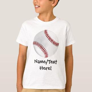 Personalized Baseball on Green Kids Boys Shirts