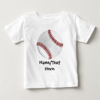 Personalized Baseball on Green Kids Boys T Shirt