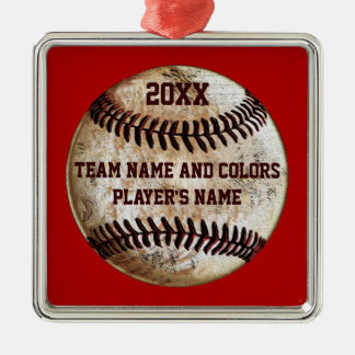 Personalized Baseball Ornaments, Your Colors, Text Christmas Ornament