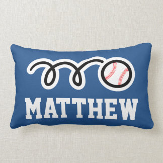 Personalized baseball pillow cushion for kids