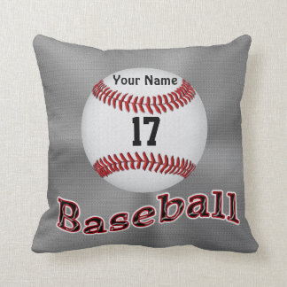 Personalized Baseball Pillows YOUR NAME & NUMBER