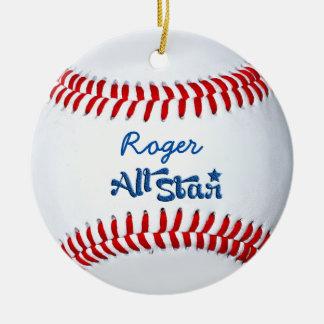Personalized Baseball Player Gift Christmas Ornament