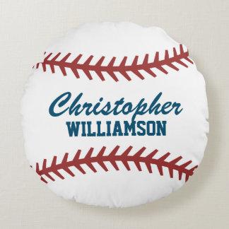 Personalized Baseball Round Cushion