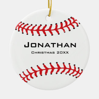 Personalized Baseball Softball Ornament