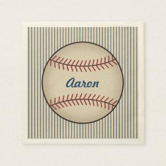 Personalized Baseball Sports Party Napkins Paper Serviettes