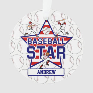 Personalized Baseball Star and stripes