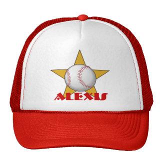 Personalized Baseball Star Hat