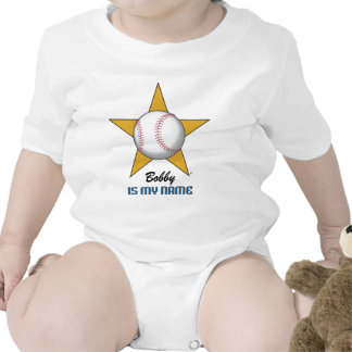 Personalized Baseball Star Rompers
