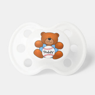 Personalized Baseball Teddy Bear Design Pacifier