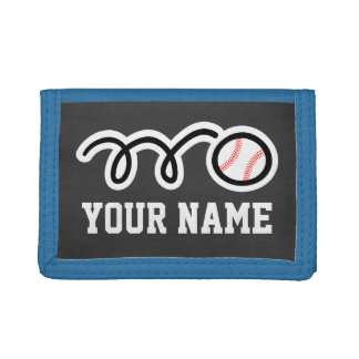 Personalized baseball wallets and purses | sports