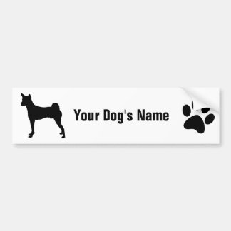 Personalized Basenji バセンジー Bumper Sticker
