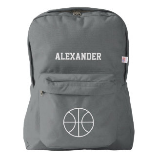 Personalized basketbal sports backpack | Gray
