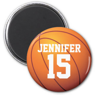 Personalized Basketball 6 Cm Round Magnet