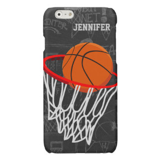 Personalized Basketball and hoop Glossy iPhone 6 Case