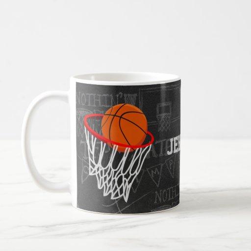Personalized Basketball and hoop Mug