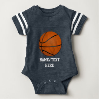 Personalized Basketball Baby Boy Baby Bodysuit