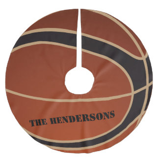 Personalized Basketball Brushed Polyester Tree Skirt