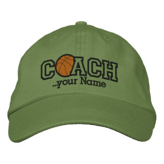 Personalized Basketball Coach with your name Embroidered Hat