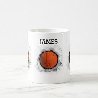 personalized basketball gifts basic white mug