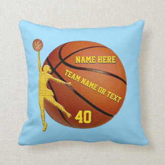 Personalized Basketball Gifts for Girls Your Color Cushion