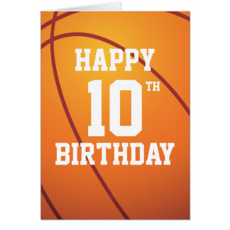 Personalized Basketball Happy Birthday Greeting Card