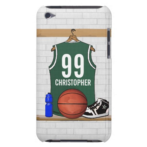 Personalized Basketball Jersey (green) Case-Mate iPod Touch Case