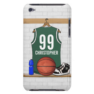 Personalized Basketball Jersey green Case-Mate iPod Touch Case