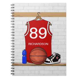 Personalized Basketball Jersey (Red) Journal