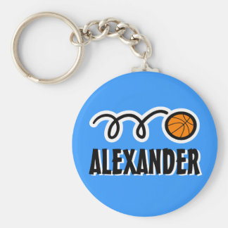 Personalized basketball keychain for kids name