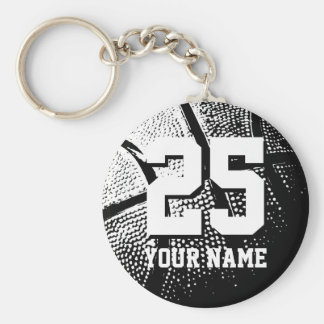 Personalized basketball keychain | name and number