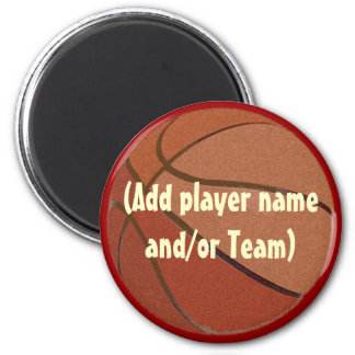 Personalized Basketball Magent 6 Cm Round Magnet
