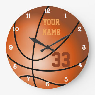 Personalized Basketball Name and Number Clock