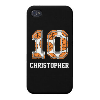 Personalized Basketball Number 10 Case For iPhone 4