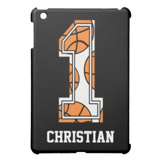 Personalized Basketball Number 1 iPad Mini Cases