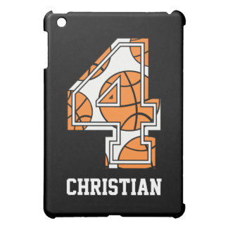 Personalized Basketball Number 4 Cover For The iPad Mini