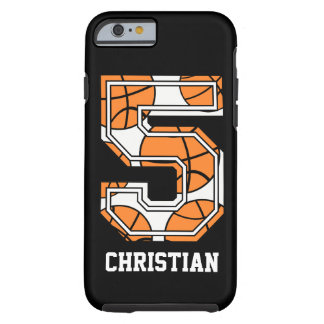 Personalized Basketball Number 5 Tough iPhone 6 Case