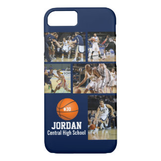 Personalized Basketball Photo Collage Name Team # iPhone 7 Case