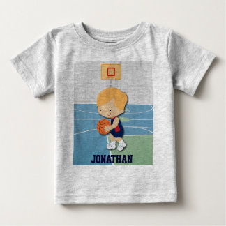 Personalized basketball player cartoon Toddler Tee Shirt