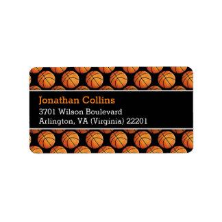 Personalized Basketball   Sport Address Label