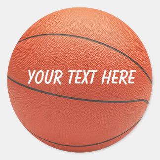 Personalized Basketball Sticker