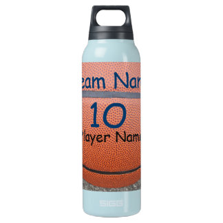 Personalized Basketball Team Number Water Bottles