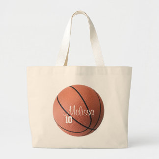 Personalized Basketball Tote Bag