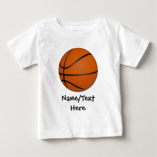 Personalized Basketball Wood Floor Baby T-Shirt