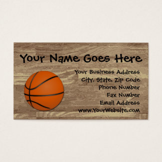 Personalized Basketball Wood Floor Business Card