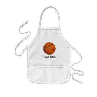 Personalized Basketball Wood Floor Kids Apron