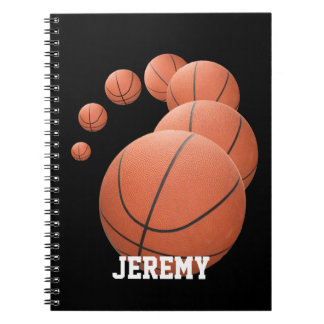 Personalized Basketballs in the Air Notebook