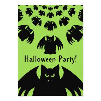Personalized bat Halloween 13 Cm X 18 Cm Invitation Card