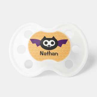 Personalized Bat Halloween Pacifier