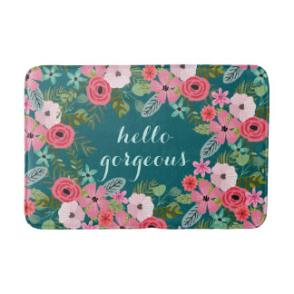 Personalized bath mat Hello Gorgeous Bath Mats