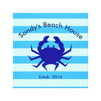 Personalized Beach House Nautical Canvas Wall Art